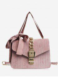 Chain Buckle Strap Bow Crossbody Bag -