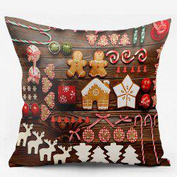 Christmas Elements Double Sided Printing Decorative Pillowcase -