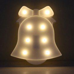 Decoration Christmas Bell Shape Night Light -