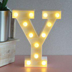 Letter Y Shape 3D LED Night Light -