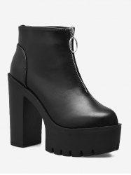 Platform Chunky Heel Ankle Boots -