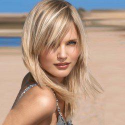 Long Side Bang Straight Synthetic Wig -