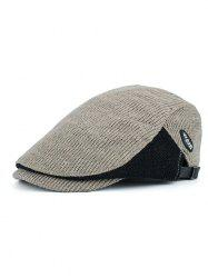 Vintage Letter Label Embellished Adjustable Duckbill Hat -