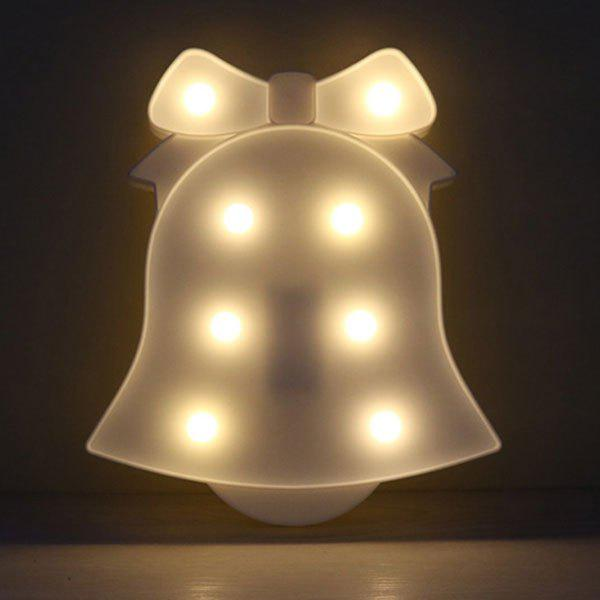 Cheap Decoration Christmas Bell Shape Night Light