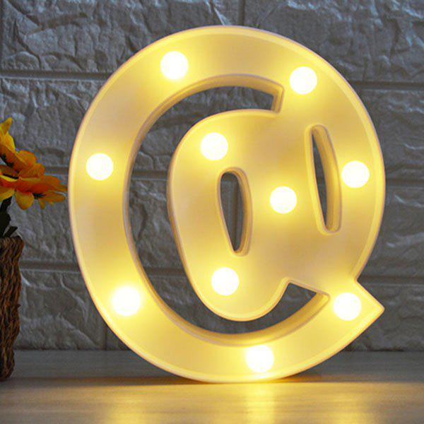 @ Symbol Shape Decoration Night LightHOME<br><br>Color: WHITE; Products Type: Novelty Lighting; Materials: Plastic; Style: Novelty; Occasion: Birthday,Home,Party Supplies; Weight: 0.2394kg; Package Contents: 1 x Night Light;