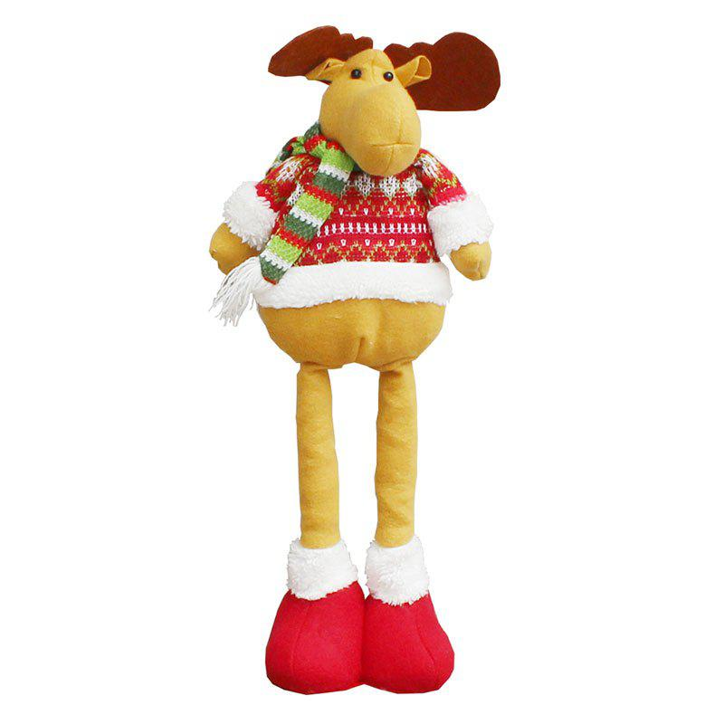 New Retractable Elk Patterned Christmas Doll