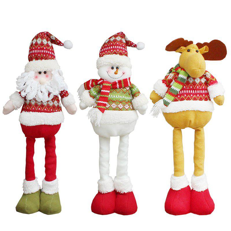 3Pcs Retractable Santa Claus Elk Snowman Pattern Christmas DollsHOME<br><br>Color: COLORFUL; Event &amp; Party Item Type: Other; Occasion: Christmas; Weight: 2.0000kg; Package Contents: 3 x Christmas Dolls (Pcs);