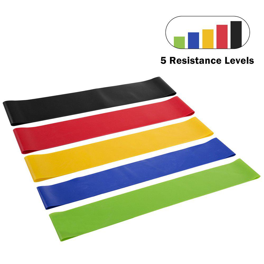 5 Pcs Resistance Bands for Workout Gym Yoga Leg TrainingHOME<br><br>Color: COLORMIX; Type: Other Fitness &amp; Bodybuilding Products; Material: Latex; Weight: 0.2000kg; Package Contents: 1 x Resistance Bands (Set);
