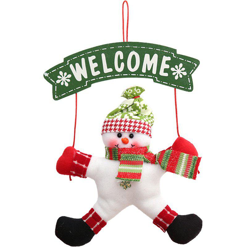 Christmas Tree Ornament Welcome Door Hanging DecorationHOME<br><br>Color: GREEN; Event &amp; Party Item Type: Party Decoration; Occasion: Christmas,Party; Weight: 0.2772kg; Package Contents: 1 x Door Hanger Decoration;