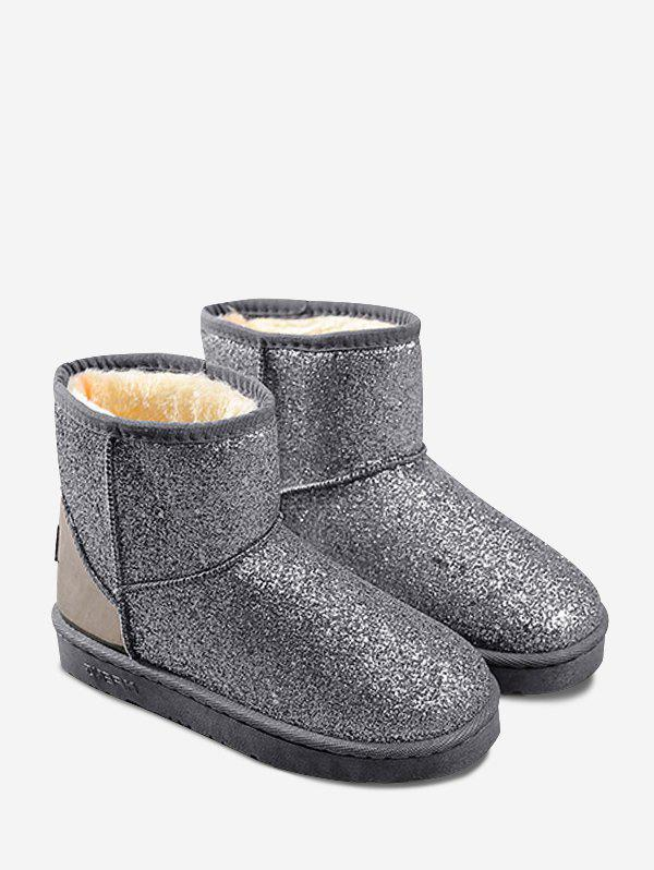 Fancy Slip On Sparkled Snow Boots
