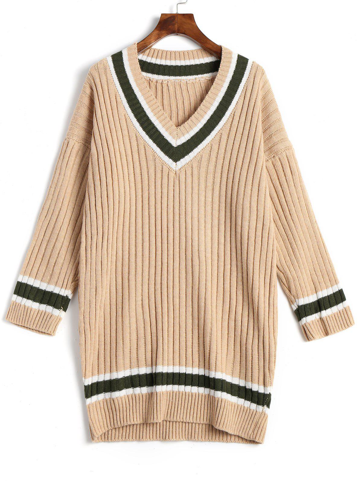 Ribbed Tunic Sweater 234413102