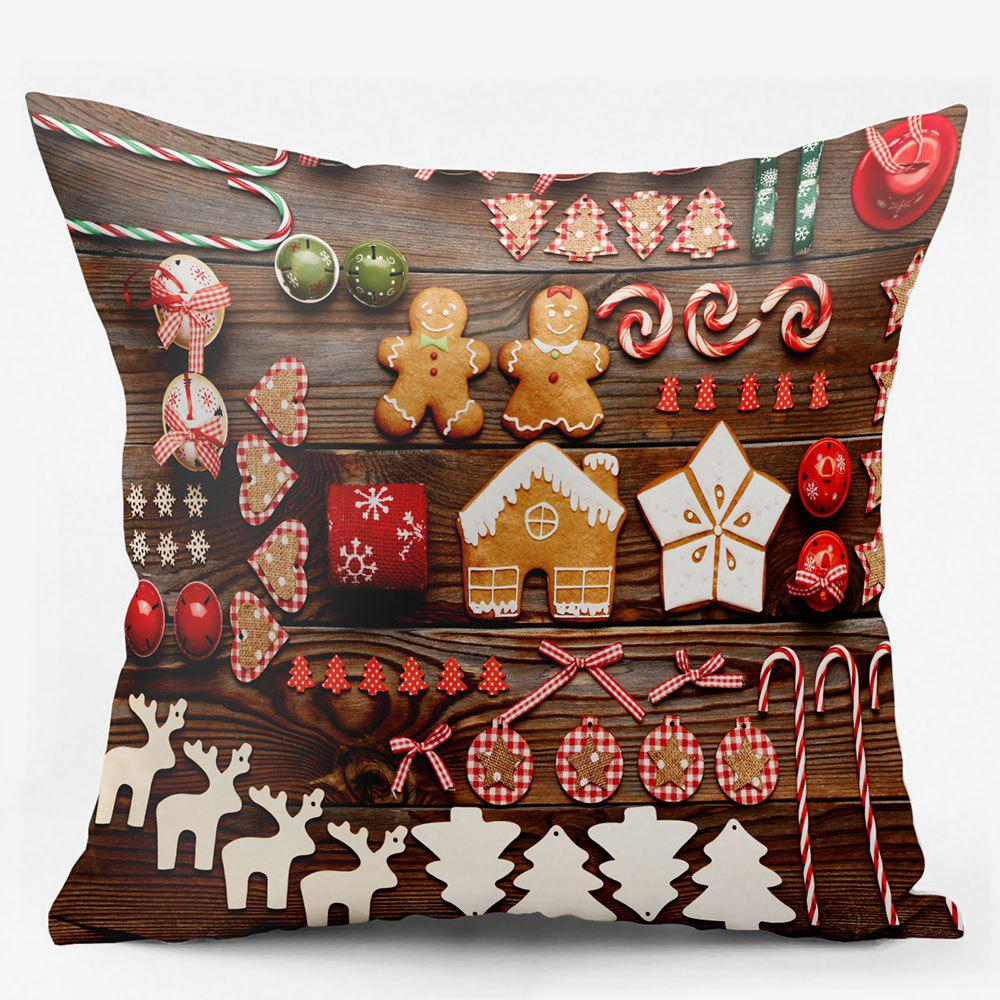 Cheap Christmas Elements Double Sided Printing Decorative Pillowcase