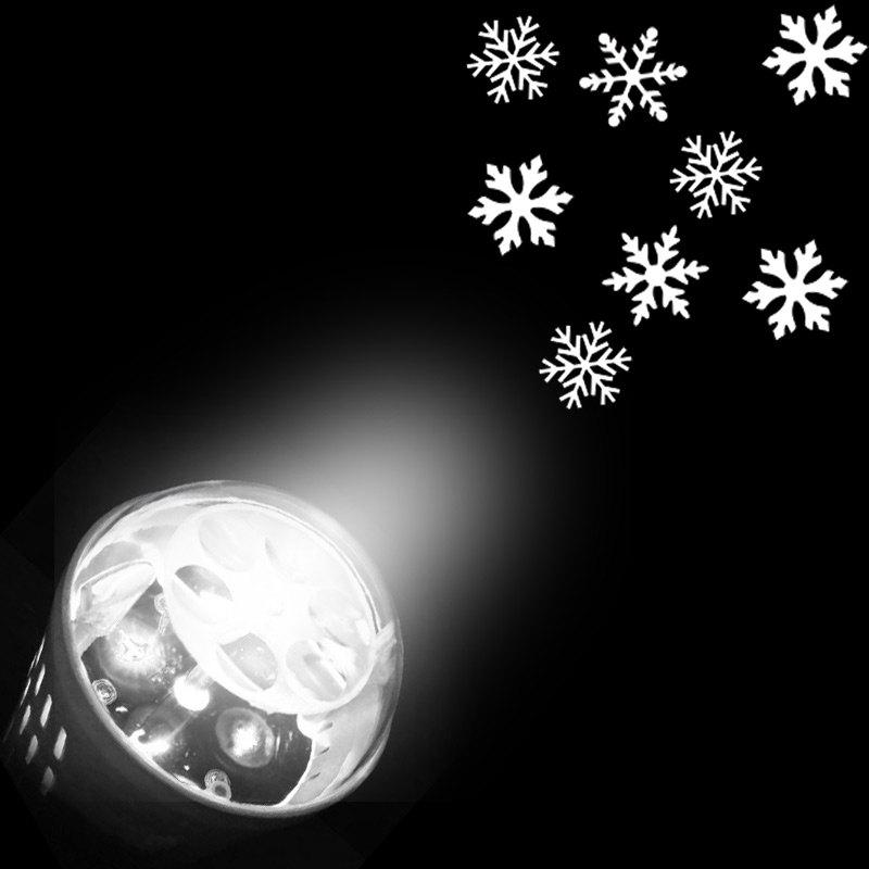 Chic Party Decor Christmas Snowflakes Pattern Projector Light Bulb