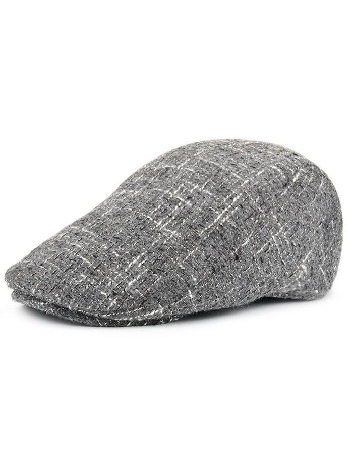 Vintage Color Splice Pattern Adjustable Duckbill HatACCESSORIES<br><br>Color: GRAY; Hat Type: Newsboy Caps; Group: Adult; Gender: For Men; Style: Fashion; Pattern Type: Others; Material: Polyester; Weight: 0.1000kg; Package Contents: 1 x Hat;