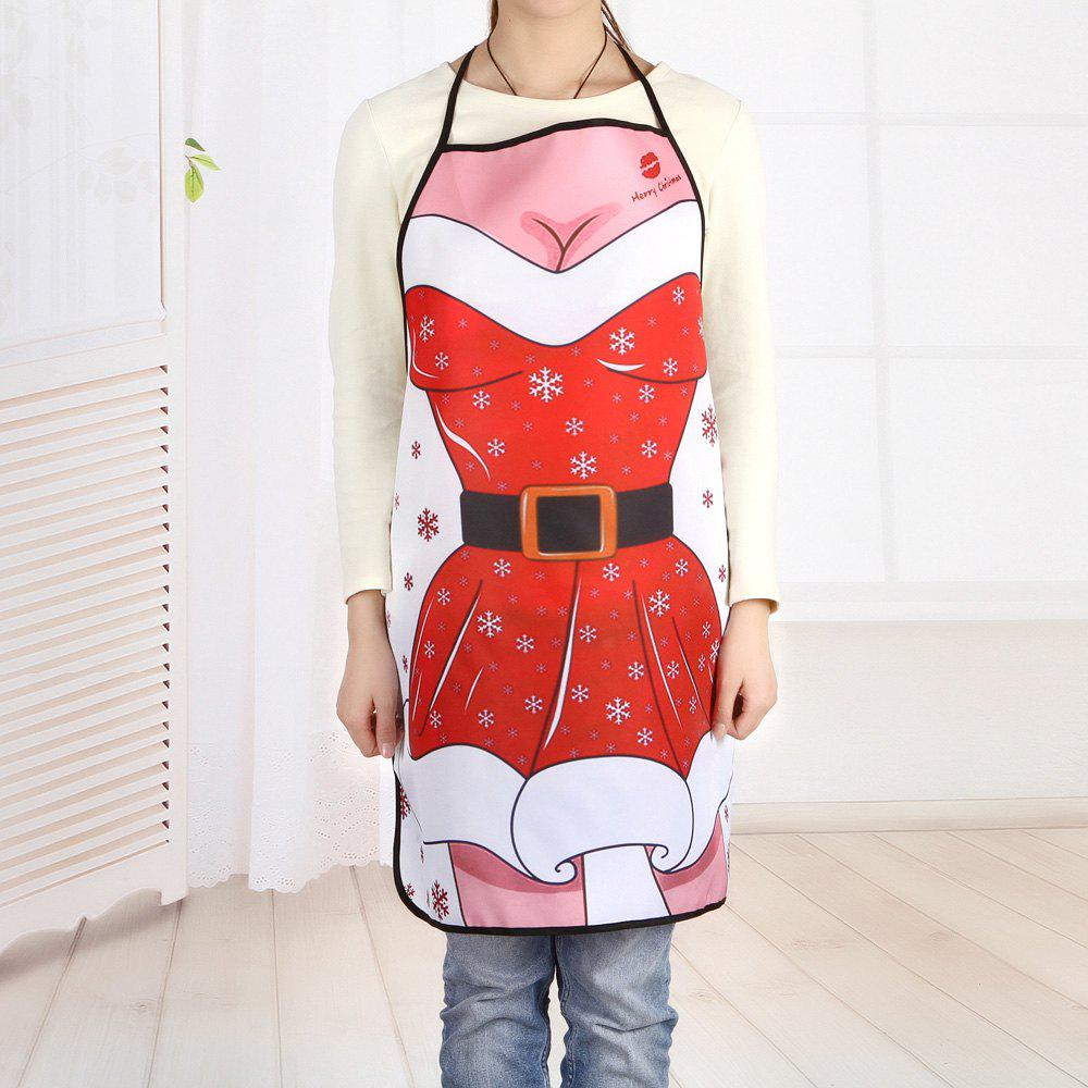 Christmas Santa Dress Print Kitchen ApronHOME<br><br>Size: 80*70CM; Color: COLORMIX; Type: Apron; Material: Polyester; Pattern Type: Print; Weight: 0.1000kg; Package Contents: 1 x Apron;