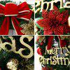 30CM Bowknot Merry Christmas Floral Wreath -