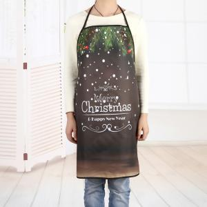 Tablier en Polyester Imperméable Inscription Merry Christmas -