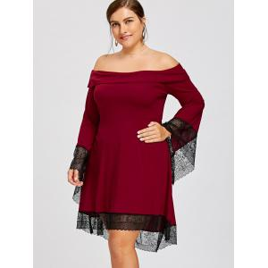 Plus Size Off The Shoulder High Low Dress -