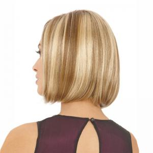 Short Colormix Side Parting Straight Bob Synthetic Wig -