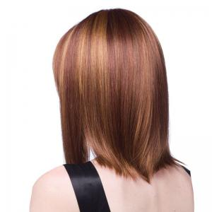 Medium Full Bang Straight Bob Colormix Synthetic Wig -