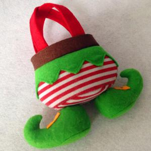 Christmas Elf Candy Tote Gift Bag -