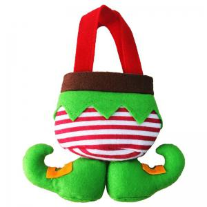 3 Pcs Christmas Elf Body Candy Tote Gift Bags -