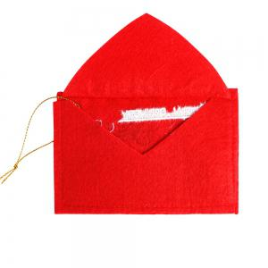 10Pcs Christmas Fabric Envelope Bags -