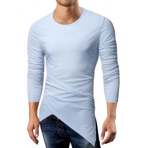 Long Sleeve Longline Asymmetric T-Shirt -