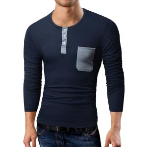 Long Sleeve Pocket Henley T-Shirt -