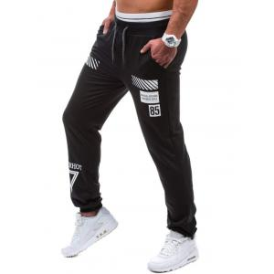 Drawstring Graphic Geometric Print Jogger Pants -