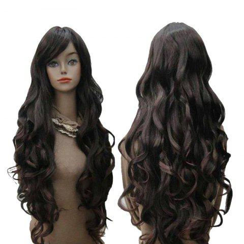 Discount Long Inclined Bang Wavy Synthetic Wig