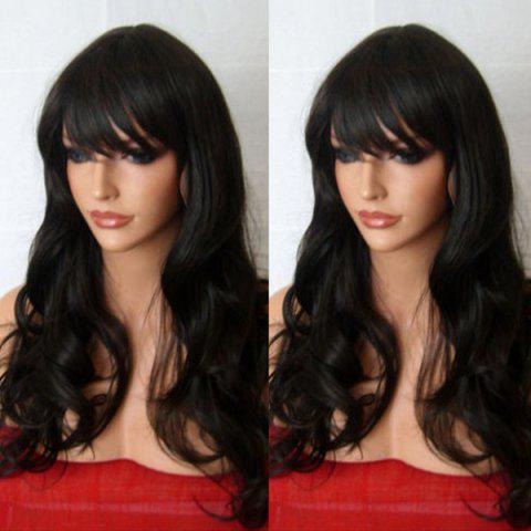 Outfit Long Inclined Fringe Wavy Synthetic Wig