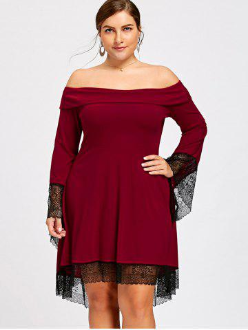 Plus Size Off The Shoulder High Low Dress