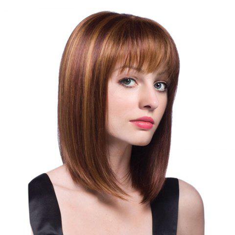 Outfits Medium Full Bang Straight Bob Colormix Synthetic Wig