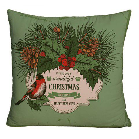 Shops Christmas Graphic Decorative Square Throw Pillowcase