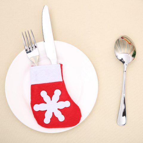 Latest 10Pcs Christmas Mini Sock Knife And Fork Bags