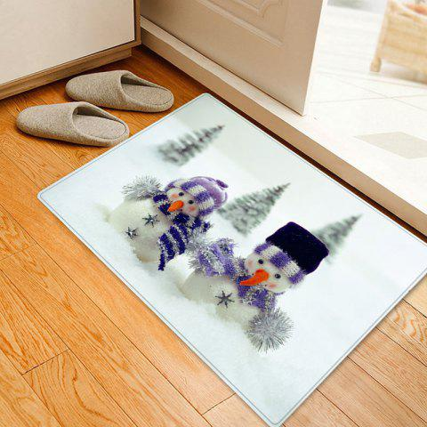 Christmas Snowmen Snowfield Pattern Anti-skid Water Absorption Area Rug