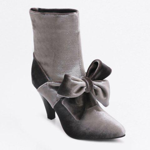 Latest Cone Heel Pointed Toe Bow Boots