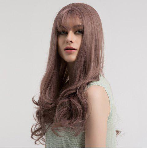 Best Long See-through Fringe Curly Synthetic Wig