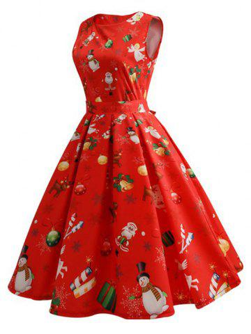 Reindeer Santa Claus Vintage Dress