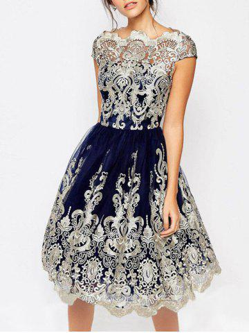 Blue Vintage Prom Dress Free Shipping Discount And Cheap Sale
