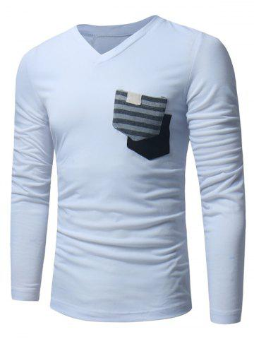 Latest Pockets Embellished Long Sleeve T-shirt