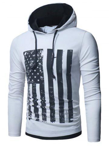 Outfit Long Sleeve Distressed American Flag Print T-shirt