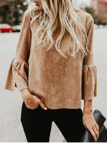 Flare Sleeve Back Cut Out Shirt