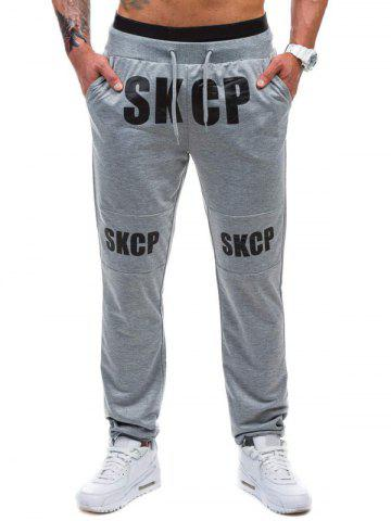 Store Drawstring Graphic Print Beam Feet Jogger Pants
