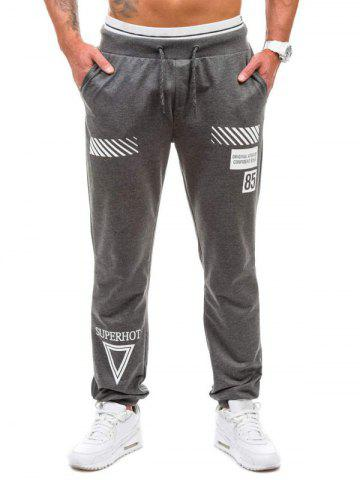 New Drawstring Graphic Geometric Print Jogger Pants
