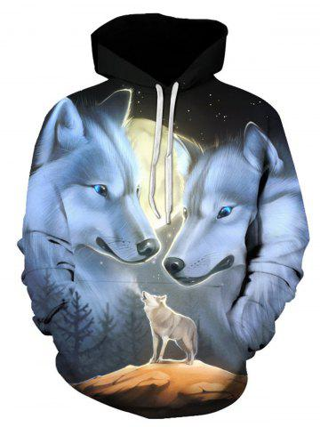 Shops Hooded Wolves 3D Print Pullover Hoodie