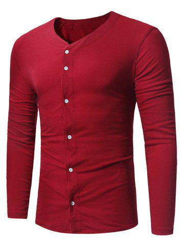 Latest Button Up Long Sleeve T-shirt