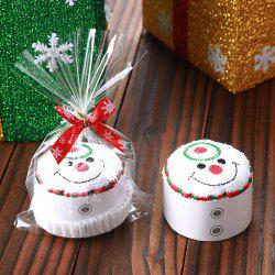 Christmas Santa Snowman Tree Shape Cupcake Towel -