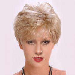 Short Side Bang Layered Shaggy Slightly Curly Synthetic Wig -